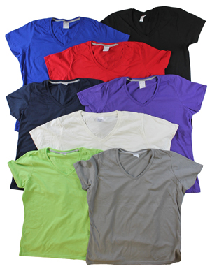 RGRiley | Womens Hanes Cotton Jersey V-Neck T-Shirts | Imperfect & Thirds