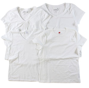 RGRiley | Womens White Cotton Jersey T-Shirts | Imperfect