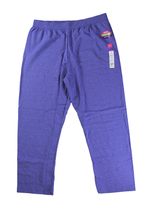 RGRiley | Hanes Plus Womens Blue Heather Sweatpants | Closeout