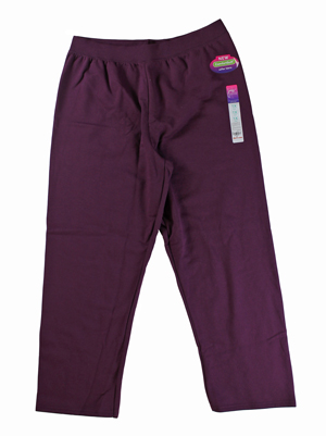 RGRiley | Hanes Plus Size Womens Plum Port Sweatpants | Closeout