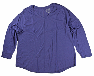 RGRiley | Hanes Plus Size Out of the Blue Long Sleeve V-Neck T-Shirts | Closeout