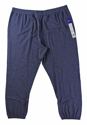 RGRiley | Hanes Womens Navy Fleece Sweatpants | Closeout