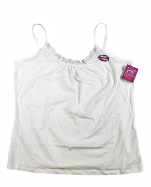 RGRiley | Womens Plus Size Just My Size White Cami Tank Tops | JMS Closeout