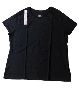 RGRiley.com | Womens Just My Size Black T-Shirts | Closeout