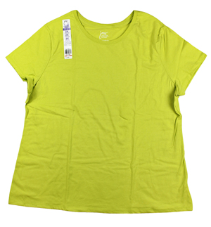 RGRiley.com | Womens Just My Size Lime Green T-Shirts | Closeout