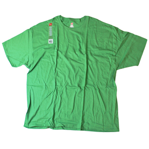RGRiley | Hanes Big Mens Juniper Green Jersey T-Shirts | Closeout