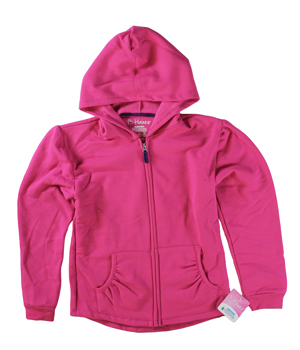 RGRiley | Hanes Girls Amaranth Zipper Hooded Sweatshirts | Closeout