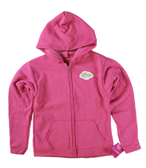 RGRiley | Hanes Girls Jazzberry Pink Heather Zipper Hoodies | Closeout