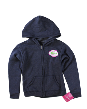 RGRiley | Hanes Girls Navy Heather Zipper Hoodies | Closeout