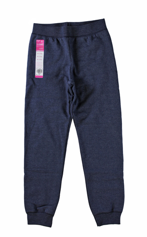 RGRiley | Hanes Girls Navy Heather Jogger Sweatpants | Closeout