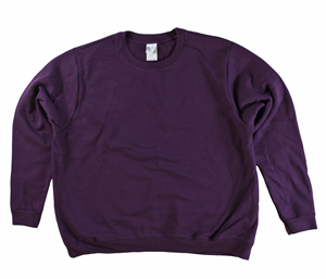 RGRiley | Gildan Womens Aubergine Fleece Crew Neck Sweatshirts | Irregular