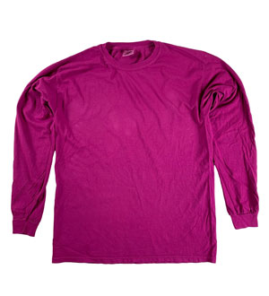 RGRiley | Comfort Color Boysenberry Long Sleeve T-Shirts | Mill Graded