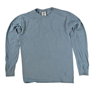 RGRiley | Comfort Color Blue Jean Long Sleeve T-Shirts | Mill Graded
