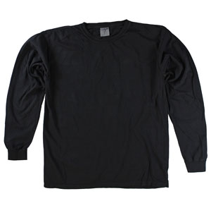 RGRiley | Comfort Color Black Long Sleeve T-Shirts | Mill Graded