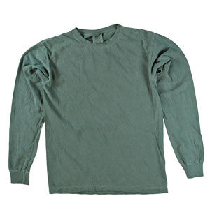 RGRiley | Comfort Color Blue Spruce Long Sleeve T-Shirts | Mill Graded