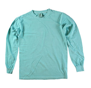 RGRiley | Comfort Color Chalky Mint Long Sleeve T-Shirts | Mill Graded