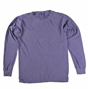 RGRiley | Comfort Color Grape Long Sleeve T-Shirts | Mill Graded