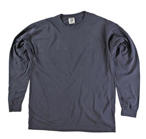 RGRiley | Comfort Color Graphite Long Sleeve T-Shirts | Mill Graded