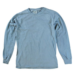 RGRiley | Comfort Color Ice Blue Long Sleeve T-Shirts | Mill Graded