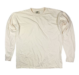 RGRiley | Comfort Color Ivory Long Sleeve T-Shirts | Mill Graded