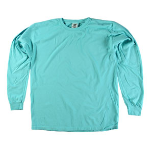 RGRiley | Comfort Color Lagoon Long Sleeve T-Shirts | Mill Graded
