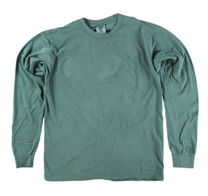 RGRiley | Comfort Color Light Green Long Sleeve T-Shirts | Mill Graded