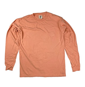 RGRiley | Comfort Color Melon Long Sleeve T-Shirts | Mill Graded