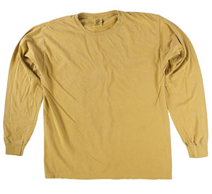 RGRiley | Comfort Color Mustard Long Sleeve T-Shirts | Mill Graded