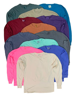 RGRiley | Comfort Color Long Sleeve T-Shirts | Mill Graded