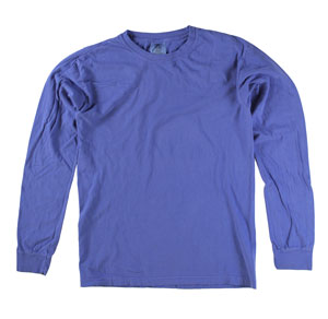RGRiley | Comfort Color Neon Blue Long Sleeve T-Shirts | Mill Graded