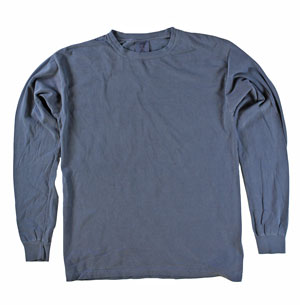 RGRiley | Comfort Color Navy Long Sleeve T-Shirts | Mill Graded