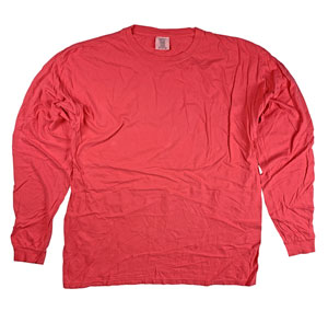 RGRiley | Comfort Color Paprika Long Sleeve T-Shirts | Mill Graded