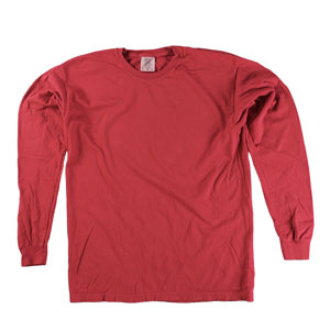 RGRiley | Comfort Color Red Long Sleeve T-Shirts | Mill Graded