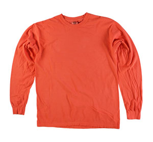 RGRiley | Comfort Color Bright Salmon Long Sleeve T-Shirts | Mill Graded
