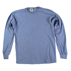 RGRiley | Comfort Color Washed Denim Long Sleeve T-Shirts | Mill Graded