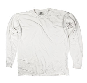 RGRiley | Comfort Color White Long Sleeve T-Shirts | Mill Graded