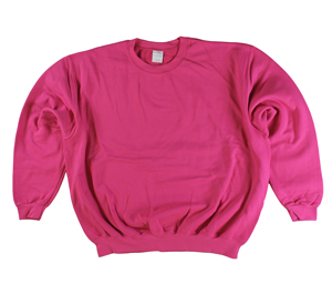RGRiley | Gildan Womens Pink Fleece Crew Neck Sweatshirts | Irregular