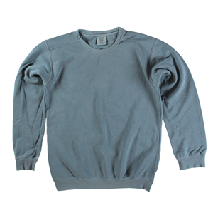 RGRiley | Comfort Color Blue Jean Crew Neck Sweatshirts | Irregular
