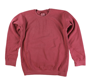 RGRiley | Comfort Color Crimson Crew Neck Sweatshirts | Irregular