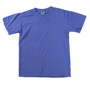 RGRiley | Comfort Color Mens Neon Blue Short Sleeve T-Shirts | Marginals