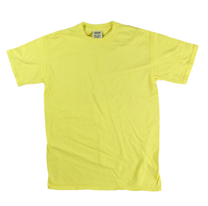 RGRiley | Comfort Color Mens Yellow Short Sleeve T's | Closeout | Marginal