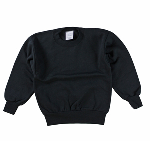RGRiley | Boys Black Fleece Crew Neck Sweatshirts | Irregular