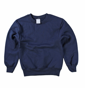 RGRiley | Boys Navy Fleece Crew Neck Sweatshirts | Irregular