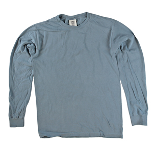 RGRiley | Comfort Color Marginal Blue Jean Long Sleeve T-Shirts | Closeout