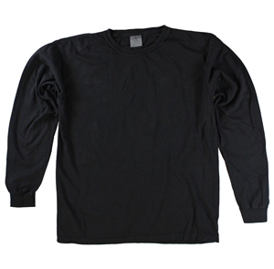 RGRiley | Comfort Color Marginal Black Long Sleeve T-Shirts | Closeout