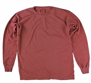 RGRiley | Comfort Color Marginal Brick Long Sleeve T-Shirts | Closeout