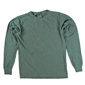 RGRiley | Comfort Color Marginal Blue Spruce Long Sleeve T-Shirts | Closeout