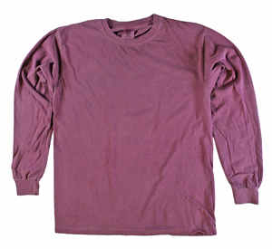 RGRiley | Comfort Color Marginal Berry Long Sleeve T-Shirts | Closeout