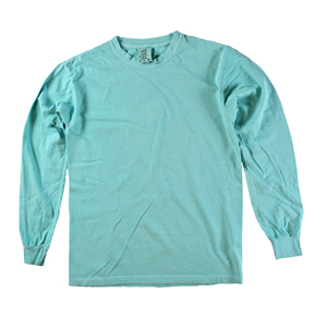 RGRiley | Comfort Color Marginal Chaly Mint Long Sleeve T-Shirts | Closeout