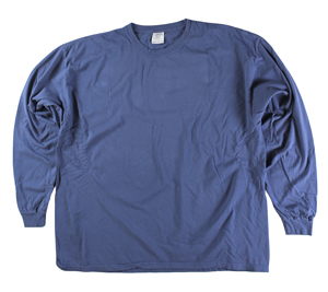RGRiley | Comfort Color Marginal China Blue Long Sleeve T-Shirts | Closeout